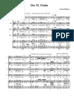Psalm 92 - Schubert (Hebrew)