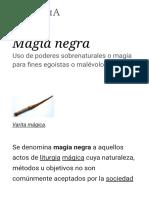 Magia Negra - Wikipedia, La Enciclopedia Libre