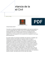 La Importancia de La Sociedad Civil