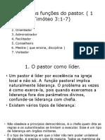 As Distintas Funções Do Pastor