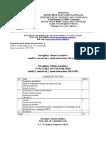 Analitica Test de Verificare Nr. 1 & 2 F.ii.1