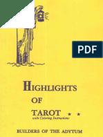 Case Paul Foster Highlights of Tarot