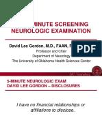 5-Minute Screening Neurologic Exam