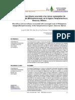 Macroflora y macrofauna asociada a las raíces sumergidas de Rhizophora mangle (Rhizophoraceae), en la laguna Tampamachoco, Veracruz, México