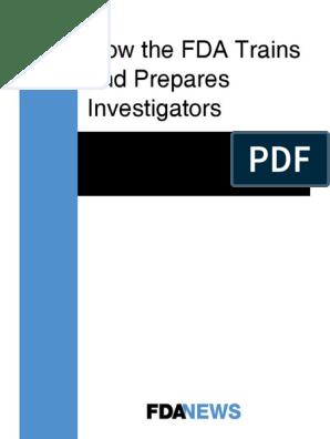 eBook How the FDA Trains and Prepares Investigators | Food