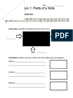 Worksheet Alto