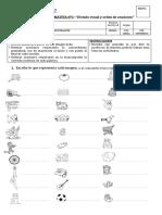 Evaluación N°1 Dictado visual y orden de oraciones