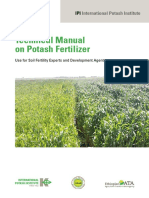 465 Technical Manual Potash Fertilizer Use