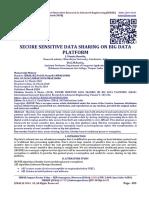 SECURE SENSITIVE DATA SHARING ON BIG DATA PLATFORM
