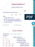 Statistical Models in S