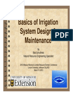 Basics of Irrigation System Design and Maintenance 2013