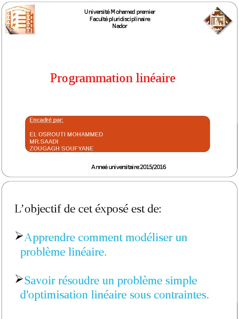 LINDO PROGRAMMATION LINEAIRE TÉLÉCHARGER