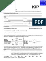 KIP Pre-Installation Form 2011