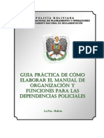 Guía para Elaborar el Manual de Organización y Funciones de la Policía Boliviana