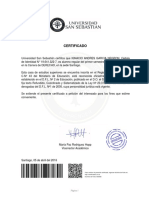 Certificado Alumno Regular