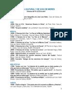 Agenda cultural y de ocio de Mieres. Semana del 16 al 22 de abril.