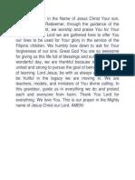 Prayer Teachers Day Celeb