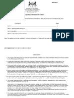 OHS Form 59 General Register for Factories