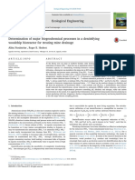 Determination of Major Biogeochemical Processes in a Denitrifying