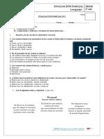 Evaluación Marzo - cap. 1 LEN- 3°- correción