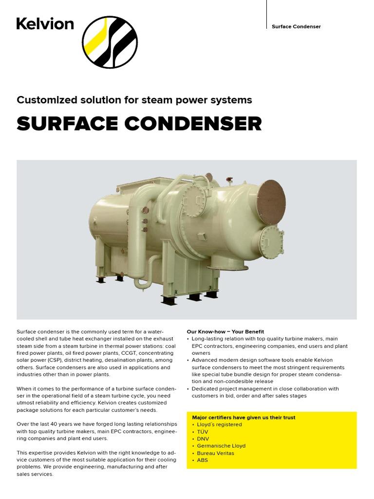 KLV_ProductSheet_SurfaceCondenser | Steam | Energy Technology