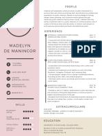 M de Manincor Resume- 2018