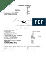Evaluacion de Anclajes Arenisca