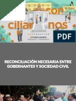 Propuesta de Participación Ciudadana | Reconciliarnos ciudadanos y Gobernantes