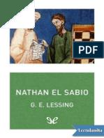 Nathan El Sabio - Gotthold Ephraim Lessing