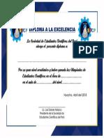 Diploma a La Excelencia