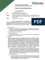 INFORME N° 038  LISTA DE ALIMENTOS DE FF.FF DE LA I.E. JOSE FAUSTINO SANCHEZ CARRION