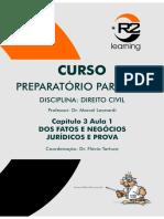 Direito Civil - Dos Fatos e Negócios Jurídicos e Prova.pdf