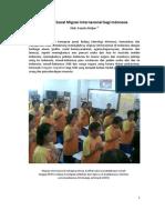 Dampak Sosial Migrasi Internasional bagi Indonesia
