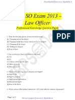 IBPS SO Previous Paper - Law Officer 2013