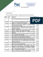 Cotiz Instrumental Oftalmologico Catarata x20piezas Hospital UTES JAUJA DR. CASTRO Abril de 2014