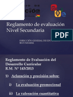 Reglamento de Evaluacion