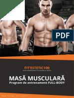 Fitestetic100 Program de Antrenament Masa-Musculara