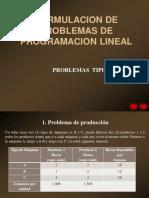 02-Formulacion de Problemas de Programacion Lineal - Problemas Tipo