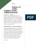 Domestic Policies of Muhammad Bin Tughluq _ India _ Tughluq Dynasty