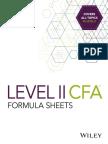 CFA Level 2 Formula Sheets Sample