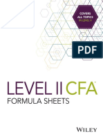 CFA Level 2 Formula Sheets Sample