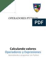 Operadores Python