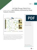 Hybrid IronAluminum Liquid Battery
