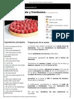 Hoja de Impresión de Tarta de Chocolate y Frambuesa