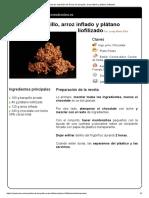 Hoja de Impresión de Rocas de Barquillo, Arroz Inflado y Plátano Liofilizado