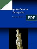 Amputações Em Ortopedia