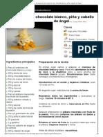 Hoja de Impresión de Postre de Coco, Chocolate Blanco, Piña y Cabello de Ángel