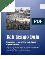 Kompilasi Bali Tempo Dulu
