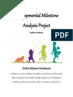 developmental milestone analysis project