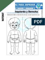 Ficha de Ubica Izquierda y Derecha Para Primero de Primaria